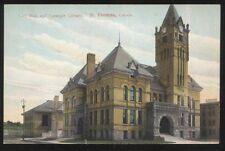 Postcard ST THOMAS Ontario/CANADA  City Hall & Carnegie Library Buildings 1907