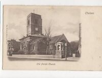 Old Parish Church Chelsea London Vintage Postcard 118a