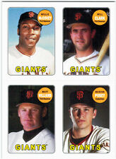 2013 Topps Archives 1969 4-in-1 Stickers Insert #69S-MCWP Willie McCovey/Will Cl