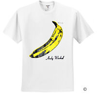 Andy Warhol Banana Velvet Underground Rock White T-Shirt Sz S M L XL 2XL 3XL