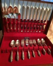 W.M. Rogers & Son 52 Pc IS Exquisite Silver plated Silverware Flatware*