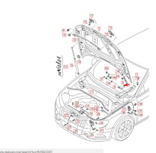 Audi A3 8PA Front Bonnet Lid Left Side Hinge 8V0823301F NEW GENUINE