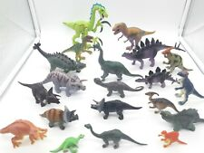 DINOSAUR ASSORTED FIGURE TOY LOT OF 20 VARIOUS SIZES T REX TRICERATOPS !!!