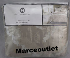 Hotel Collection Distressed Chevron FULL / QUEEN Duvet Cover Beige