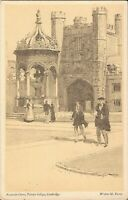 Cambridge, UK - Trinity College, Fountain Court - ARTIST SIGNED Walter M. Keesey