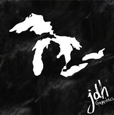 Michigan Great Lakes State Outline Vinyl Decal Sticker Car Truck Great Lakes