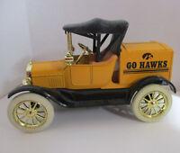 Iowa Hawkeye Ertl Bank 1:25 Ford Runabout 1918 Die Cast Metal Coin Bank