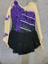 New listing Nwt Liuhuo Purple Gradient Ice Figure Skating Dress Kids 11-13