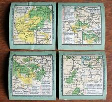 Antique Stamp Album Maps (4)  –1920s? - Thurn & Taxis – (6 x 6.8 cm )  (Le2)