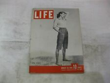 Life Magazine August 28th 1944 Weekly Pedal Pushers Published By Time       mg31