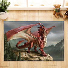 Door Mat Bathroom Rug Bedtoom Carpet Bath Mats Rug Non-Slip red Dragon New Hot
