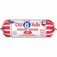 Purnell's Old Folks Hot Country Sausage 16 Oz (4 Pack)