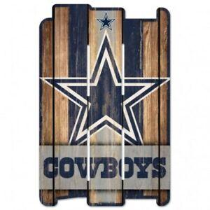 "Dallas Cowboys Wood Fence Sign 11""x17"" [NEW] NFL Wall Man Cave Fan Wall"
