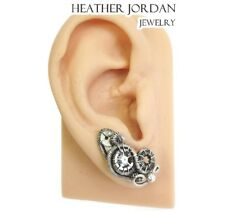 Pair of Sterling Silver Steampunk Ear Pins