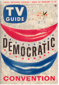 TV Guide August 11-17, 1956 Democratic National Convention (San Francisco Ed.)