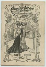 1902 Chicago Mail Order & Millinery TRADE Catalog Womens Ladies Clothing Hats
