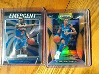 PJ Washington 2019-20 Prizm Draft Neon Orange RC #29/149 & RJ Barrett Emergent