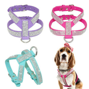 XXS/XS Extra Small Dog Harness Soft Leather Vest for chihuahua Toy Poodle yorkie