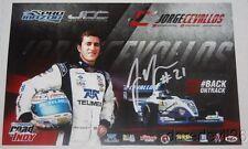 2016 Jorge Cevallos signed Telmex Pro Mazda postcard