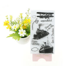Hot Train Boat Pattern Stamp Seal Scrapbooking Card Making Photo Album Decor *