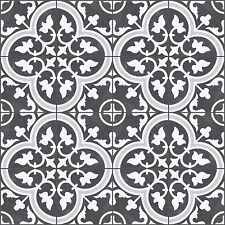 Encaustic Look Tiles -- Zamora BLACK25 250x250mm Matt Glaze Floor Tiles (per M2)