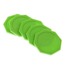 New listing Set of 5 Durable Plastic 63mm Air Hockey Pucks  Shaped Green/Red