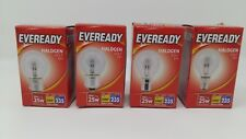 20w Halogen Clear Round Golf Light Bulbs BC ES SBC SES Push/Screw In 25w