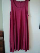 STUNNING ELEMENTE CLEMENTE OSKA  COTTON JERSEY DRESS SIZE I/II/III BNWT RED