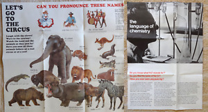 2 1960s School Posters Let's Go To The Circus Language Chemistry Scott Foresman
