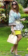 NWT ZARA Printed Kimono Blue Green Blazer Kaftan Jacket Size M Ref.2453/134