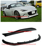 For 16-Up Mazda Miata MX-5 ND Leg Sport Style Rear Spoiler W/ Front Bumper Lip