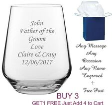 Personalised Whisky Glass engraved tumbler whisky Brandy whiskey any message