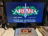 🔥💯 TESTED WORKING SUPER NINTENDO SNES GAME CARTRIDGE 🔥 ARCANA 🔥