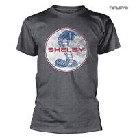 Official T Shirt SHELBY American Mustang Car Cobra LOGO #2 Dark Grey All Sizes