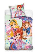 WINX CLUB Bloom Stella Flora Single Bed Duvet Cover Set 100% COTTON
