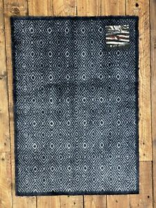 Doormat Mayfair Supersoft Microfibre Washable Diamond Anthracite 70cm x 50cm