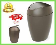 Bathroom Waste Slim Garbage Basket Trash Can With Top Swing Lid Cleaning 2.4 Gal