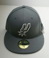 d015b3ff2b1 San Antonio Spurs Era 59fifty Storm Gray Fitted Hat Size 7 3 8