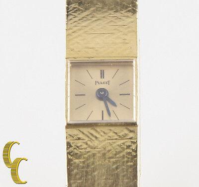 Piaget Mujer Sólido 18k Oro Amarillo Vintage Delicado Correa Manual Reloj