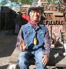 New Listing Cowboy Mannequin Handmade Folk Art Articulated Life Size Prop Dummy