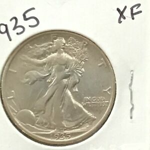 1935 Walking Liberty Silver Half Dollar   E9008