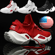 Men's Breathable Sneakers Athletic Running Tennis Shoes Casual Jogging Sports