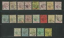 Mauritius: Scott 91-111,mostly used,XF to VF, Cat +240$ long set crown ca. MAU01