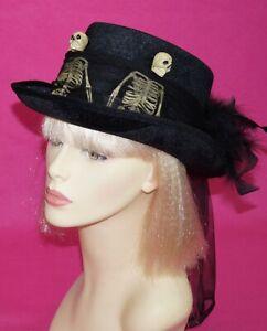 Voodoo Skeleton Top Hat Witch Doctor Costume Top Hat
