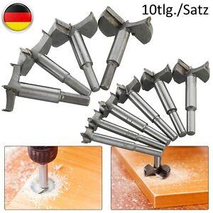 10tlg.Forstnerbohrer Satz Holzbohrer Astlochbohrer Zentrierspitze Ø15-60mm Set