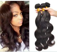 Brazilian Body Wave Virgin Human Hair 3 Bundles 150G All 100%  Human Hair Weave