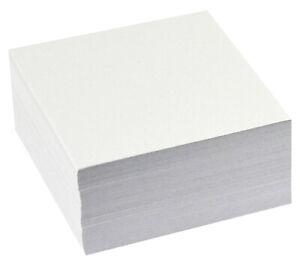Memo Jotter Block 400 Plain WHITE LOOSE Paper Note SHEETS Box Cube Holder Refill