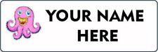 30 Personalised Monster label stickers - Custom printed school name labels 45mm
