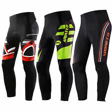Men Cycling Pants Gel Padded Stretchy Bicycle Trousers Ankle Zipper Trousers