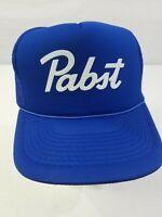PBR TRUCKER HAT Pabst Blue Ribbon Beer Cap Snapback Mesh Baseball Retro